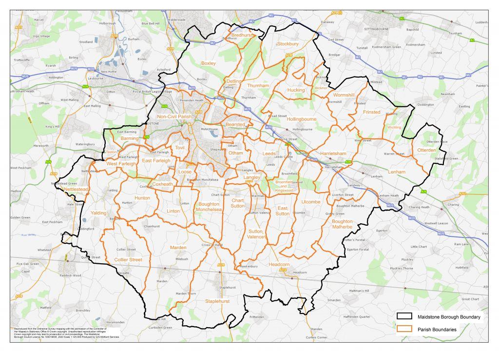 Maidstone Parish map