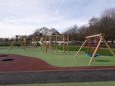 Image of Playing Area - with swings