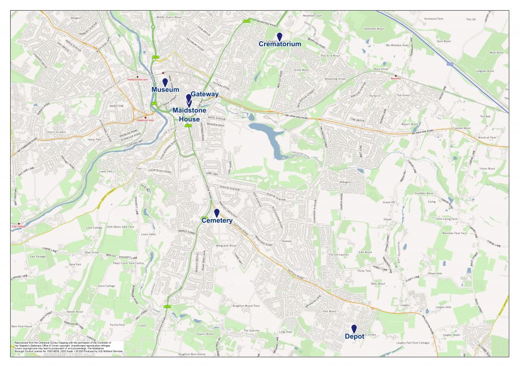 Maidstone office map